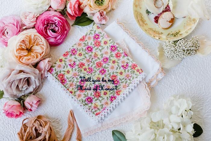 Custom Embroidered Handkerchief